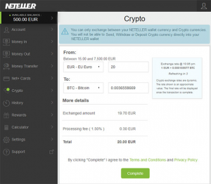 Online Fiat Wallet Neteller Launches Cryptocurrency Exchange Service