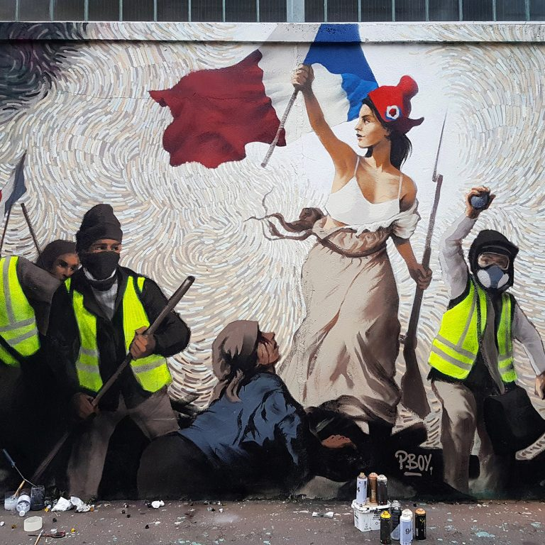 Street Artist Hides $ 1,000 in BTC Inside a Mural Depicting the Protests in Paris