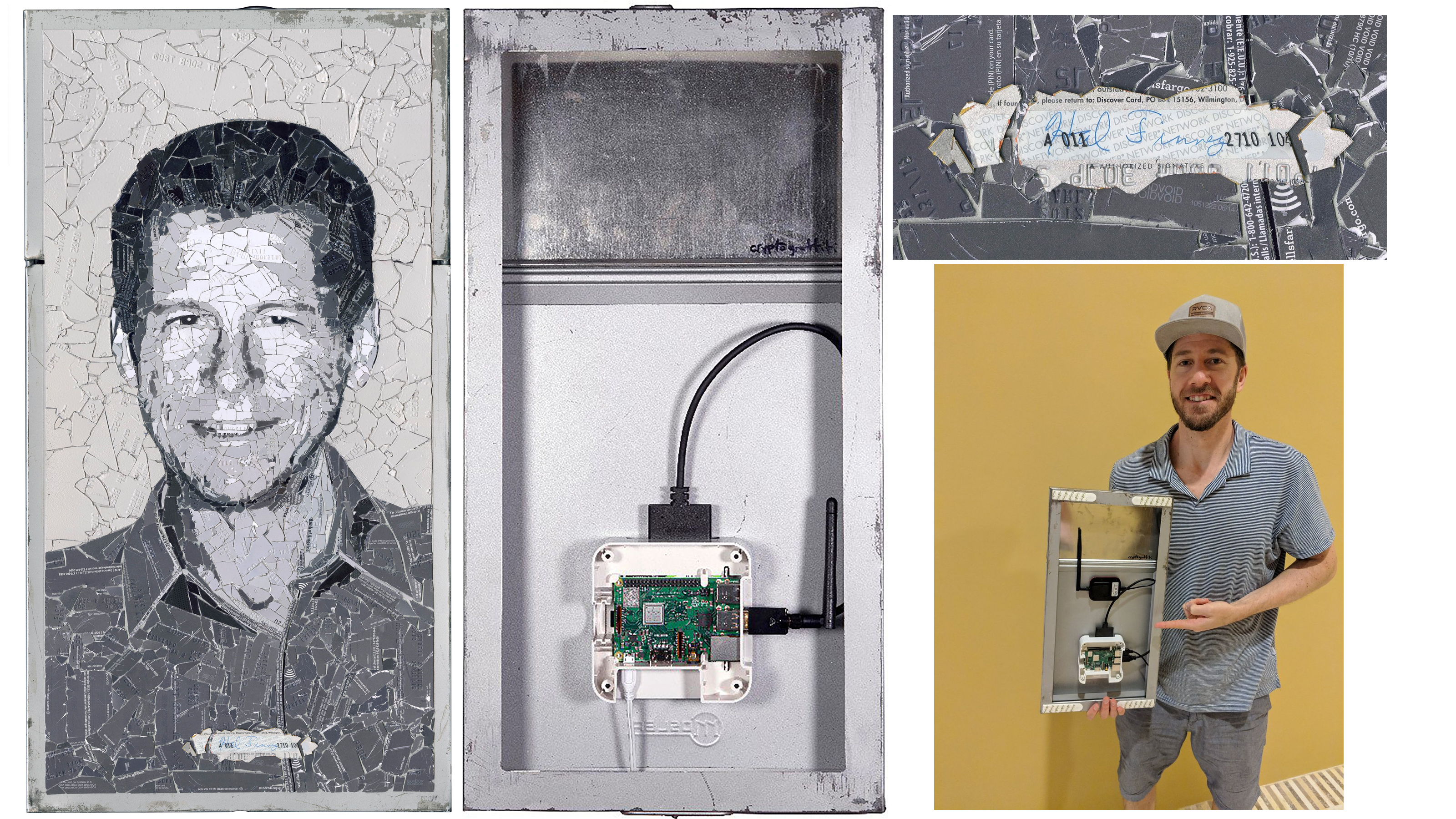 Cryptograffiti's Latest 'Running Bitcoin' Portrait Sees Auction Bids of Over $ 30K