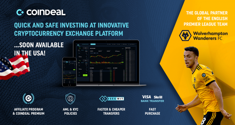 CoinDeal – Premier League Sponsor Ready for New Challenges in US Market