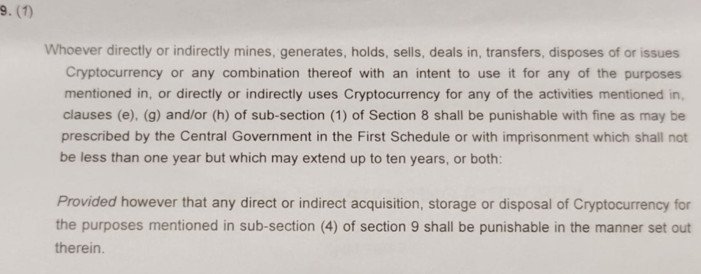 Leaked Details of India's Supposed New Cryptocurrency Bill Analyzed