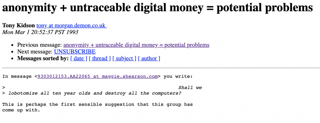Early Cypherpunk Emails Reveal a Blueprint for Bitcoin