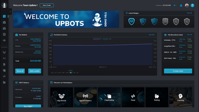 UpBots MVP Review: All-in-One Trading Platform & Marketplace for Algorithmic Traders